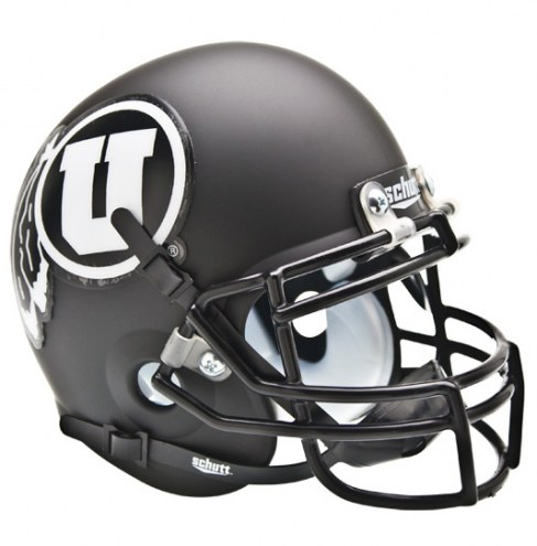 Utah Utes Black Schutt Mini Football Helmet