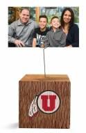 Utah Utes Block Spiral Photo Holder