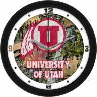 Utah Utes Camo Wall Clock
