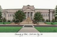 Utah Utes Campus Images Lithograph