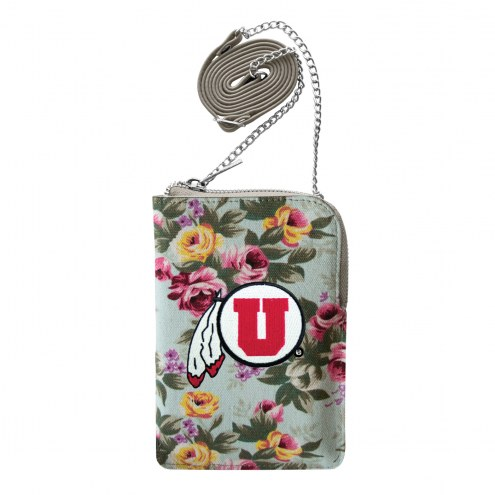 Utah Utes Canvas Floral Smart Purse