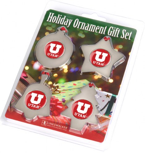 Utah Utes Christmas Ornament Gift Set