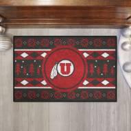 Utah Utes Christmas Sweater Starter Rug
