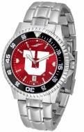 Utah Utes Competitor Steel AnoChrome Color Bezel Men's Watch