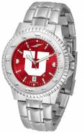 Utah Utes Competitor Steel AnoChrome Men's Watch
