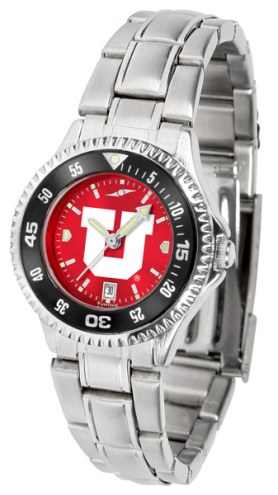 Utah Utes Competitor Steel AnoChrome Women's Watch - Color Bezel