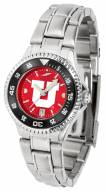 Utah Utes Competitor Steel AnoChrome Women's Watch - Color Bezel