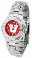 Utah Utes Competitor Steel AnoChrome Women's Watch