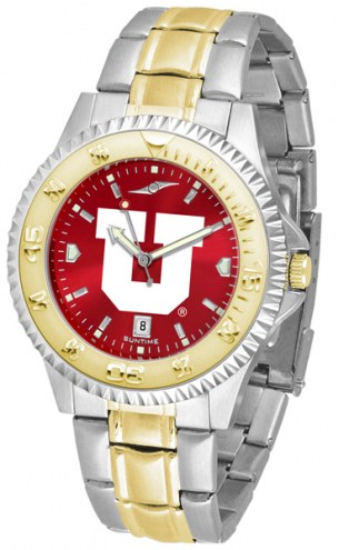 Utah Utes Competitor Two-Tone AnoChrome Men's Watch