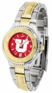 Utah Utes Competitor Two-Tone AnoChrome Women's Watch