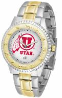Utah Utes Competitor Two-Tone Men's Watch
