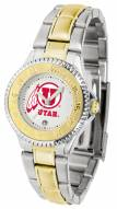 Utah Utes Competitor Two-Tone Women's Watch