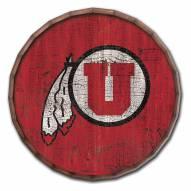 "Utah Utes Cracked Color 24"" Barrel Top"