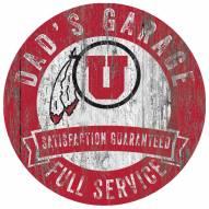Utah Utes Dad's Garage Sign