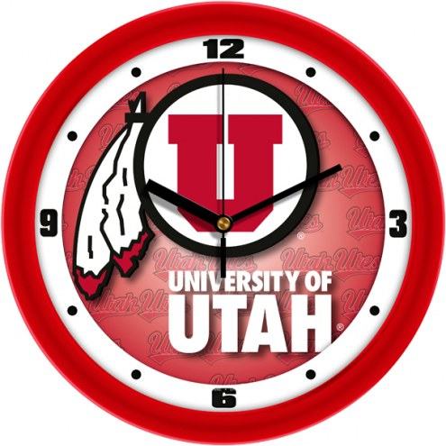 Utah Utes Dimension Wall Clock