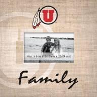 Utah Utes Family Picture Frame