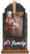 Utah Utes Family Tabletop Clothespin Picture Holder