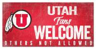 Utah Utes Fans Welcome Sign