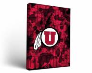 Utah Utes Fight Song Canvas Wall Art