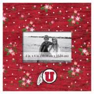 "Utah Utes Floral 10"" x 10"" Picture Frame"