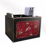Utah Utes Floral Desktop Organizer