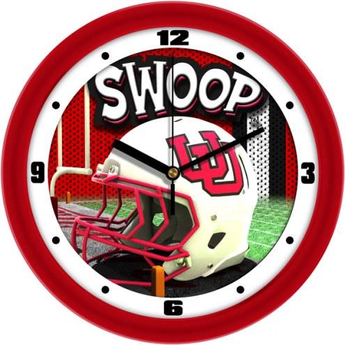 Utah Utes Football Helmet Wall Clock