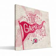 Utah Utes Gameday Vibes Canvas Print