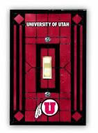 Utah Utes Glass Single Light Switch Plate Cover