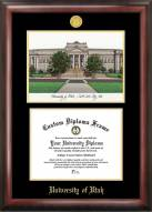 Utah Utes Gold Embossed Diploma Frame with Lithograph