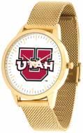 Utah Utes Gold Mesh Statement Watch