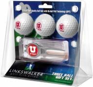 Utah Utes Golf Ball Gift Pack with Kool Tool