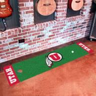 Utah Utes Golf Putting Green Mat
