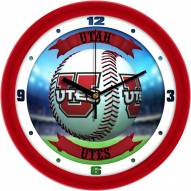 Utah Utes Home Run Wall Clock