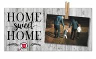 Utah Utes Home Sweet Home Clothespin Frame