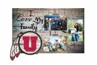 Utah Utes I Love My Family Clip Frame