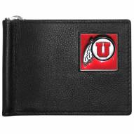 Utah Utes Leather Bill Clip Wallet