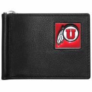 Utah Utes Leather Bill Clip Wallet