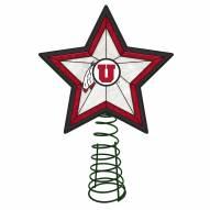 Utah Utes Light Up Art Glass Tree Topper
