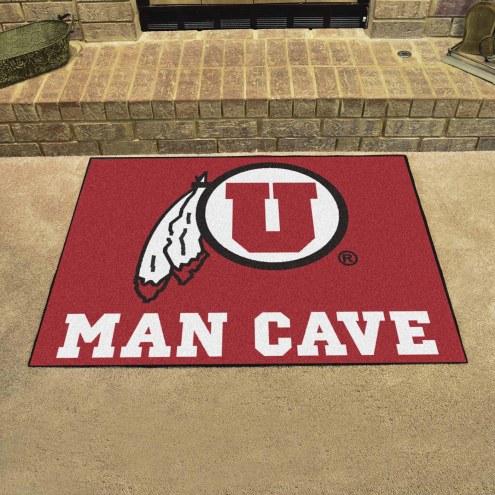 Utah Utes Man Cave All-Star Rug