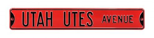 Utah Utes NCAA Embossed Street Sign