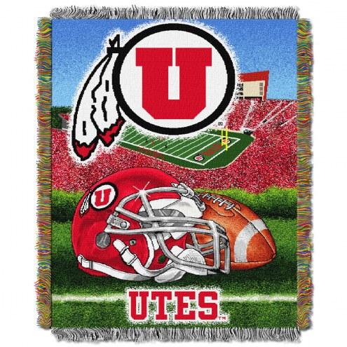 Utah Utes NCAA Woven Tapestry Throw / Blanket