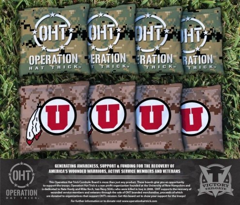 Utah Utes Operation Hat Trick Cornhole Bag Set