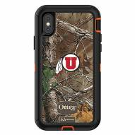 Utah Utes OtterBox iPhone X/Xs Defender Realtree Camo Case
