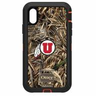 Utah Utes OtterBox iPhone XR Defender Realtree Camo Case