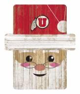 Utah Utes Santa Ornament