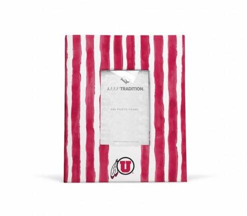 Utah Utes School Stripes Picture Frame