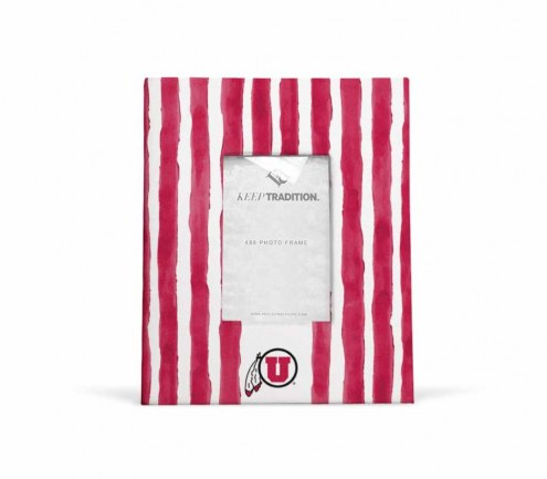 Utah Utes School Stripes Picture Frame