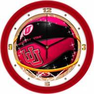 Utah Utes Slam Dunk Wall Clock