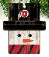 Utah Utes Snowman Ornament