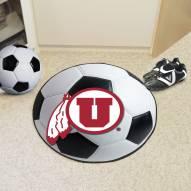 Utah Utes Soccer Ball Mat